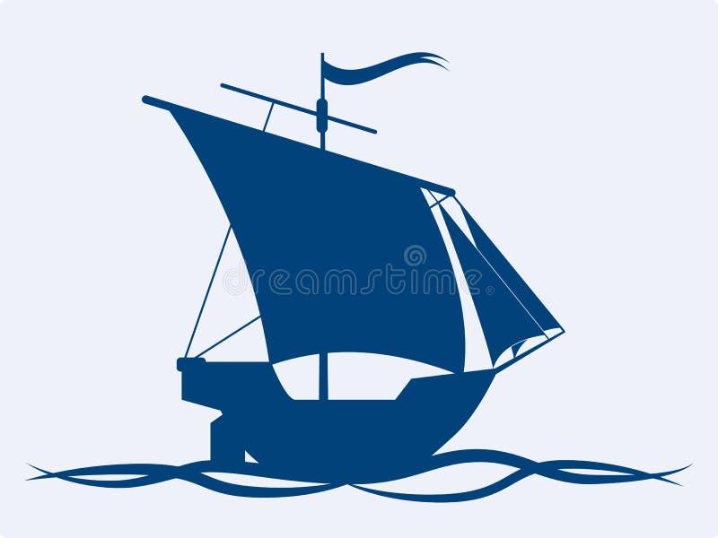 Segla shipen stock illustrationer