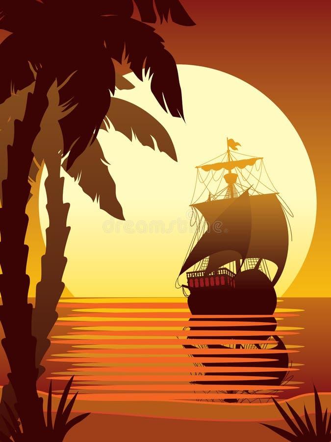 segla sun 2 till royaltyfri illustrationer