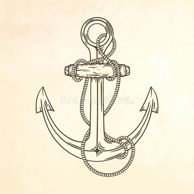 seglar baltiska tyska gammala för ankare tagen havsshipstralsund vektor illustrationer