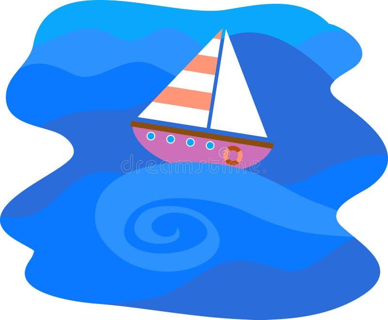 Download Segling vektor illustrationer. Bild av nautiskt, illustration - 48308