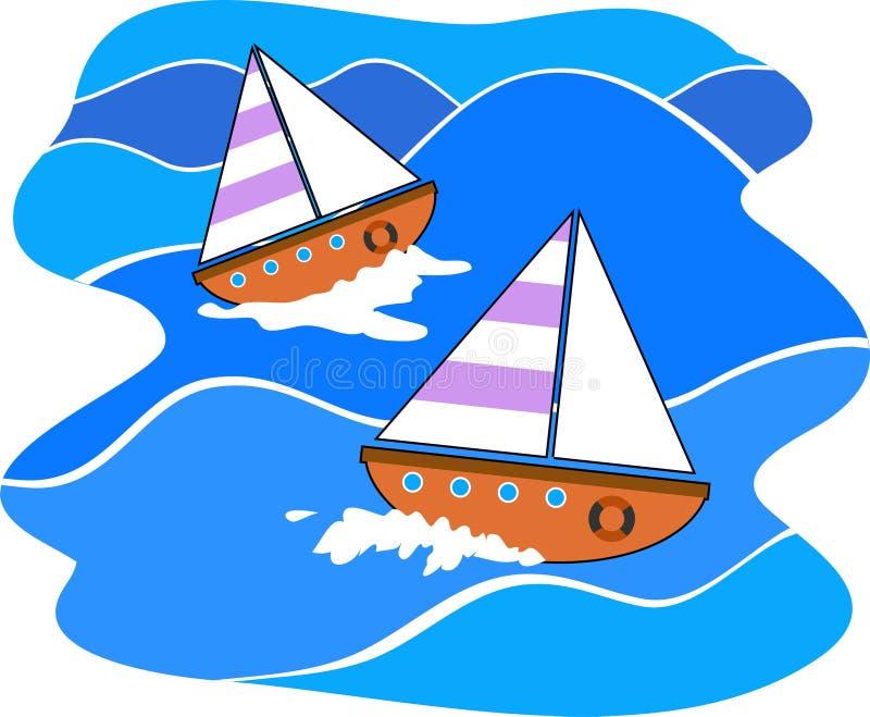 segling royaltyfri illustrationer