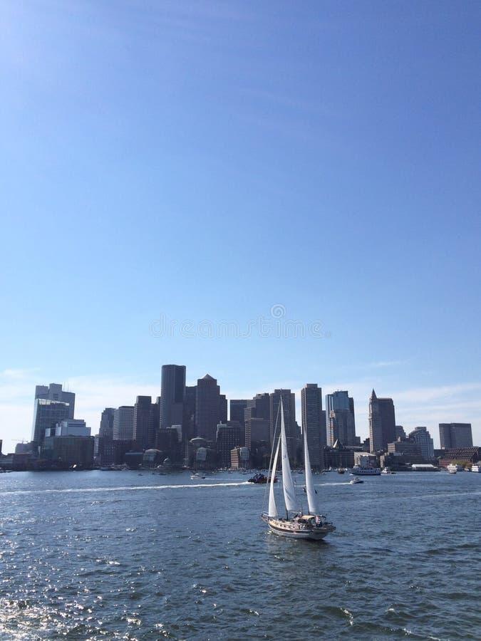 Segling Boston royaltyfria bilder