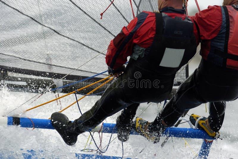 segling för 01 par arkivbilder