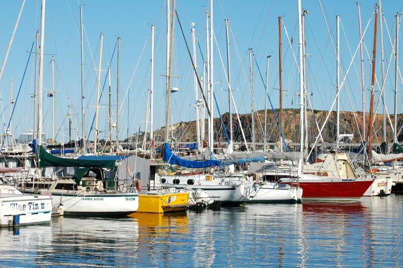 Download Segling För FartygCoffs Harbour Brygga Fotografering för Bildbyråer - Bild av transport, natur: 279667