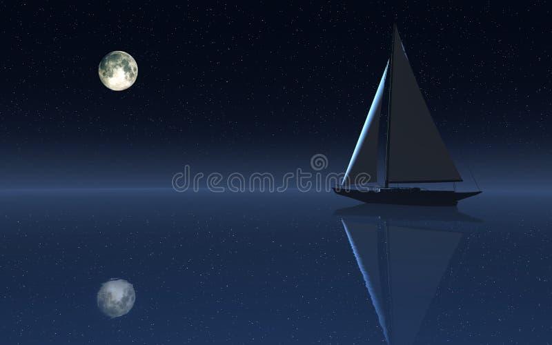 Segling för nattSky stock illustrationer