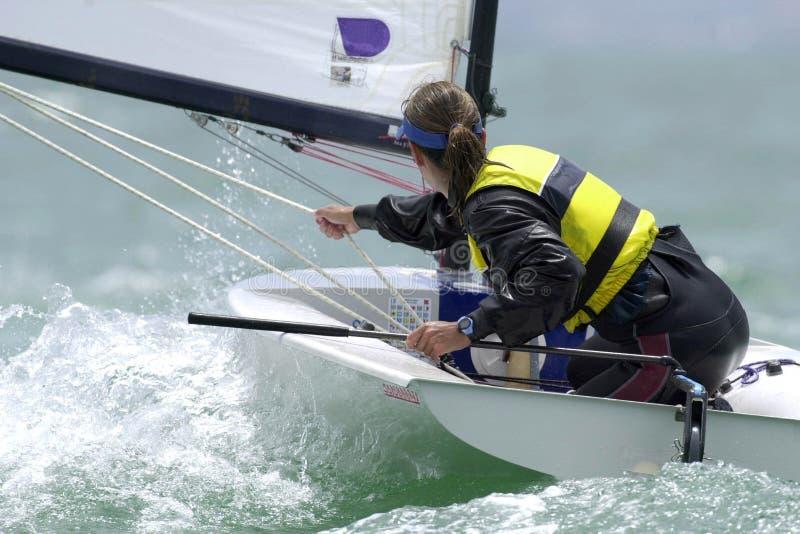 seglingkvinna royaltyfria foton