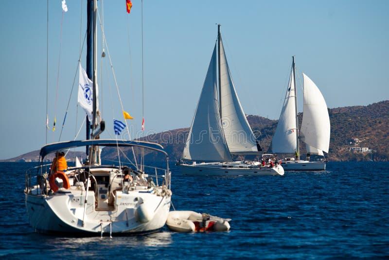 Seglingregatta Viva Grekland 2012 royaltyfri foto