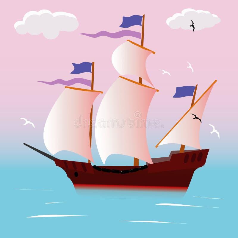 seglingskyttel vektor illustrationer