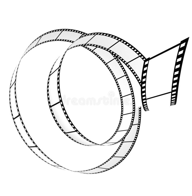 Segment Blank Film Rolled Up Royalty Free Stock Image