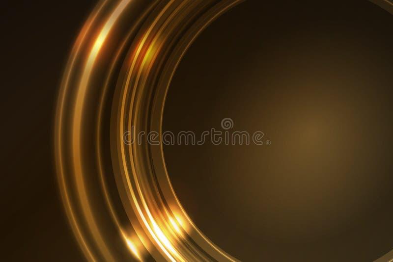 segment för guld- cirkel för ram glödande runda royaltyfri illustrationer