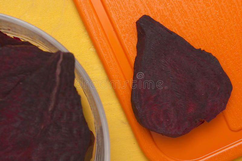 Segment of the food beet for cooking stock photo