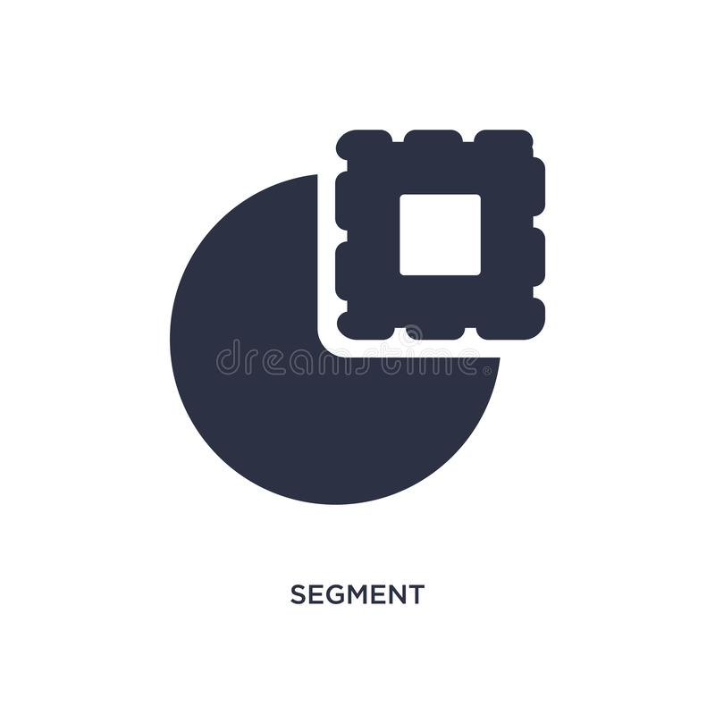 segment icon on white background. Simple element illustration from geometry concept stock illustration