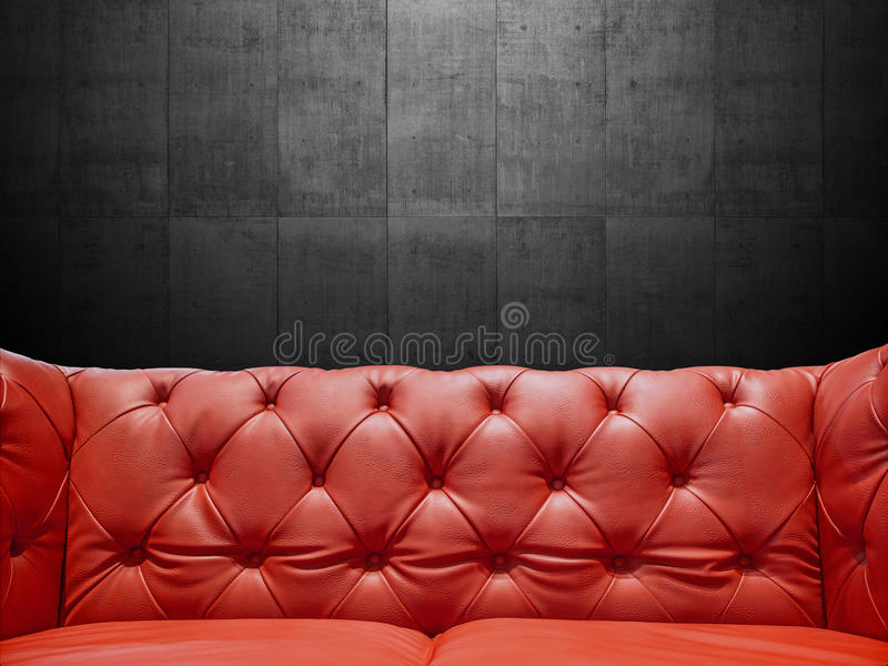 Segment kanapy Rzemienny tapicerowanie Z Copyspace obrazy royalty free