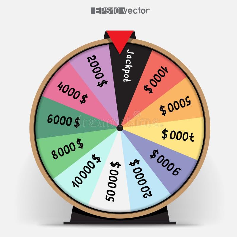 Segmentação da roda doze da fortuna ilustração royalty free