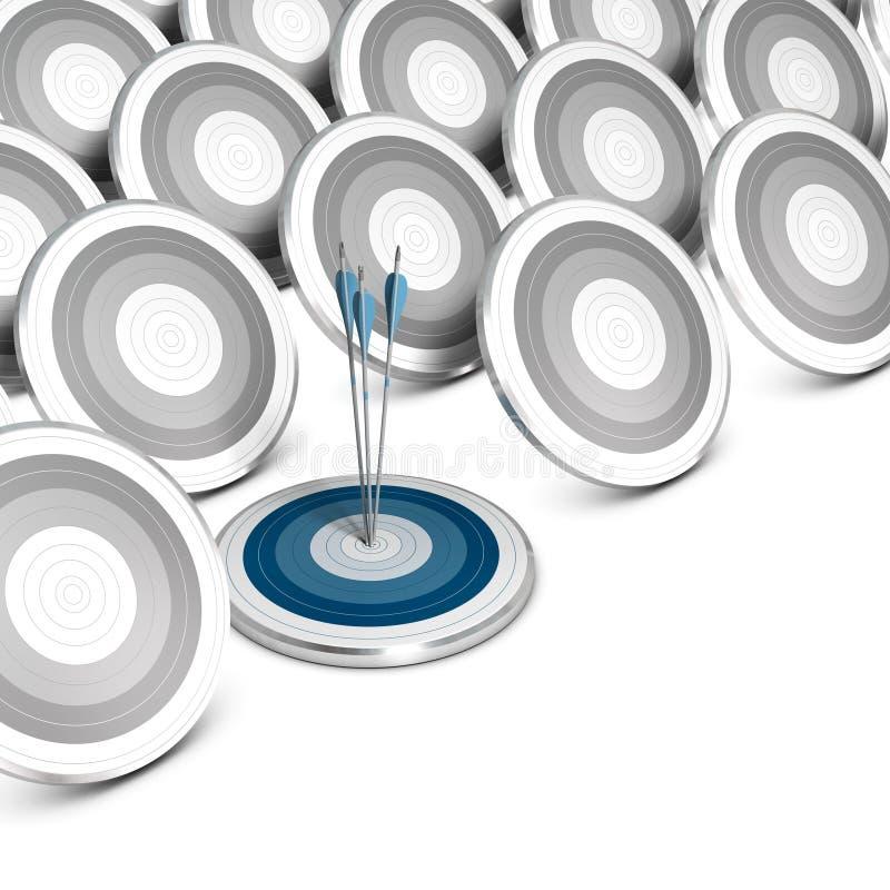 Segmentación de mercado, apuntando y colocando. ilustración del vector