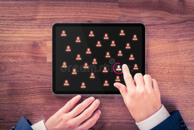 Segmentación del mercado y concepto de contratación fotos de archivo libres de regalías