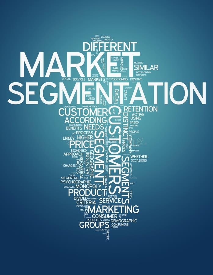 Segmentation des marchés de nuage de Word illustration de vecteur