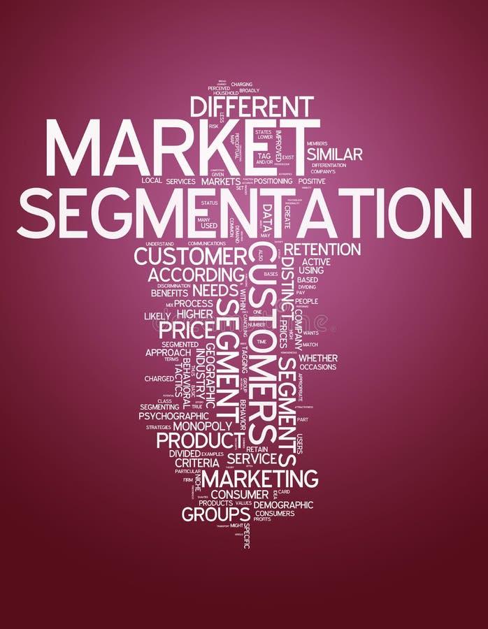 Segmentation des marchés de nuage de Word illustration libre de droits