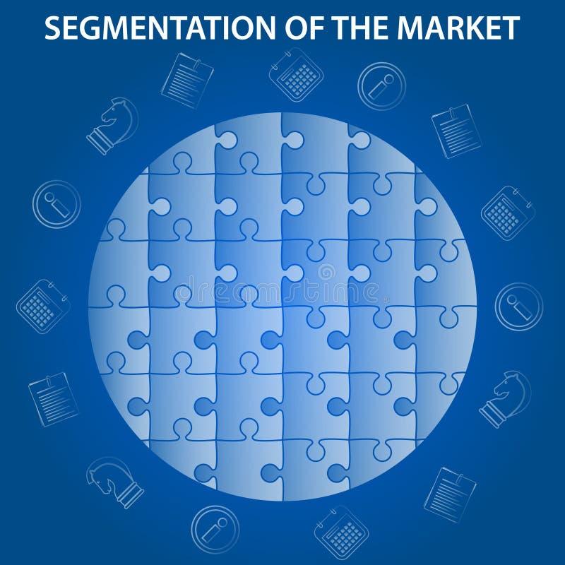 Segmentation of market infographic stock illustration