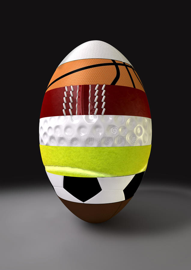 Download Segmented Sports Ball stock illustration. Image of rugby - 25076835