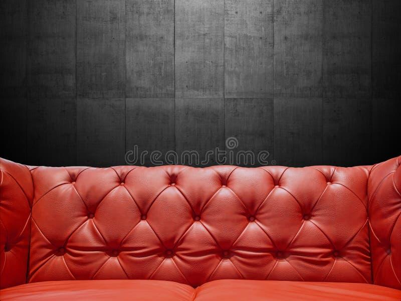Segmentläder Sofa Upholstery With Copyspace royaltyfria bilder