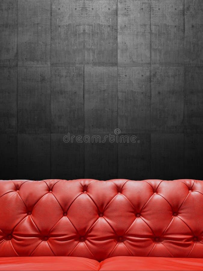 Segmentläder Sofa Upholstery With Copyspace arkivbilder