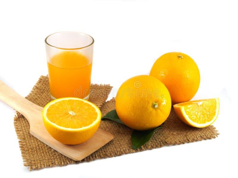 Segmento anaranjado de la fruta de aislado imagenes de archivo