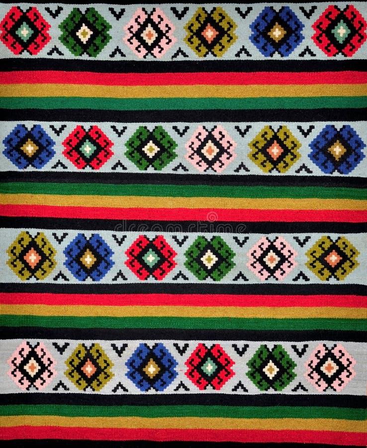 Segmento de alfombras tejidas a mano foto de archivo