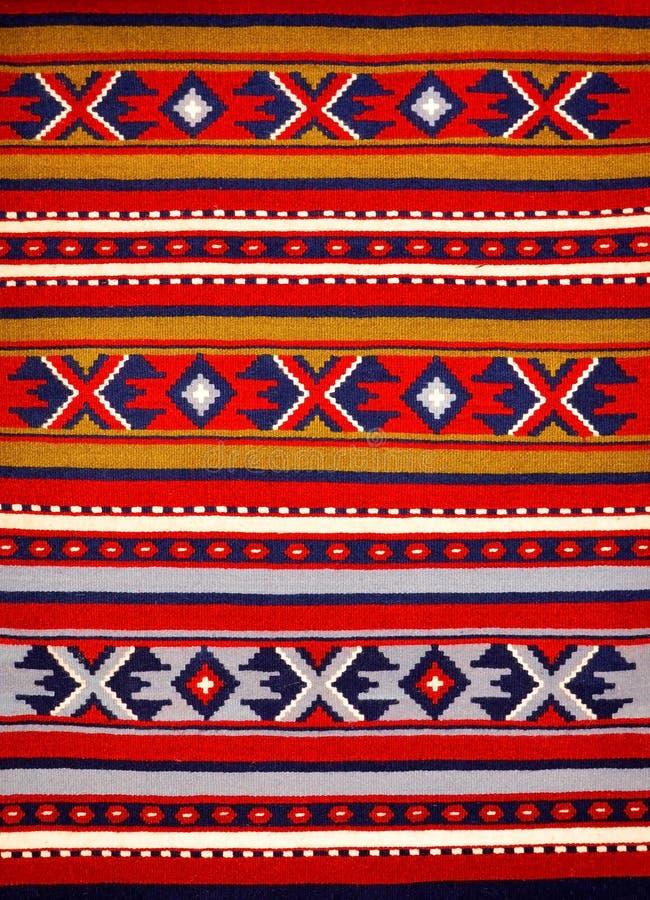 Segmento de alfombras tejidas a mano fotografía de archivo libre de regalías