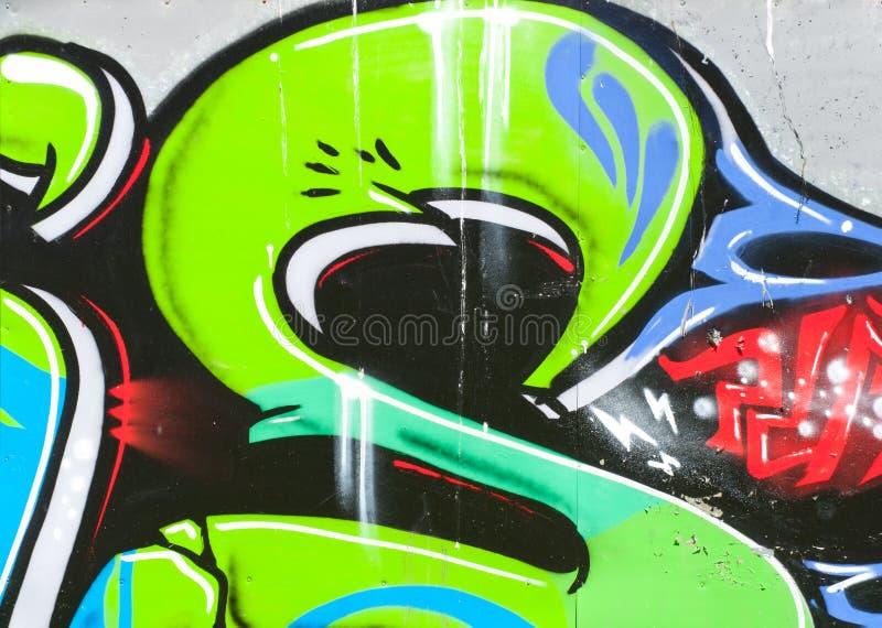 Segmento della lettera S urbana di rappresentazione della parete dei graffiti fotografie stock libere da diritti