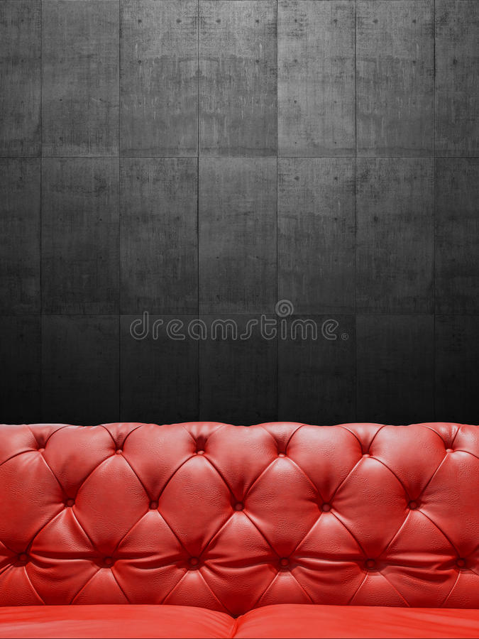 Segmento Sofa Upholstery With Copyspace di cuoio immagini stock