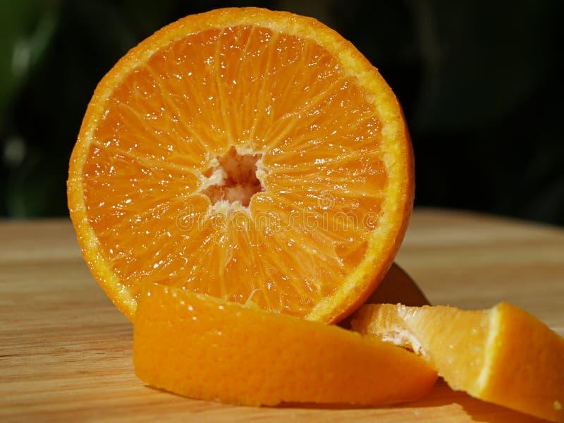 Segmentos anaranjados imagen de archivo