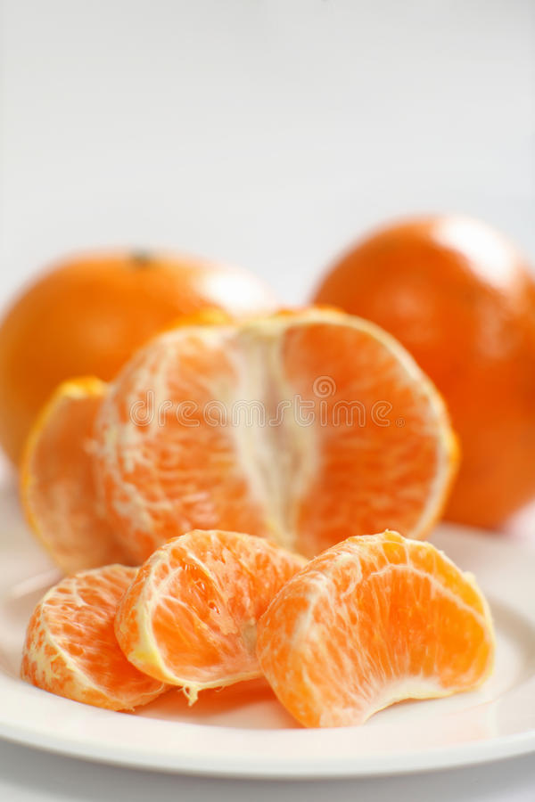 Segmentos do Tangerine imagem de stock
