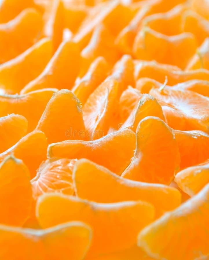 Segmentos do Tangerine foto de stock