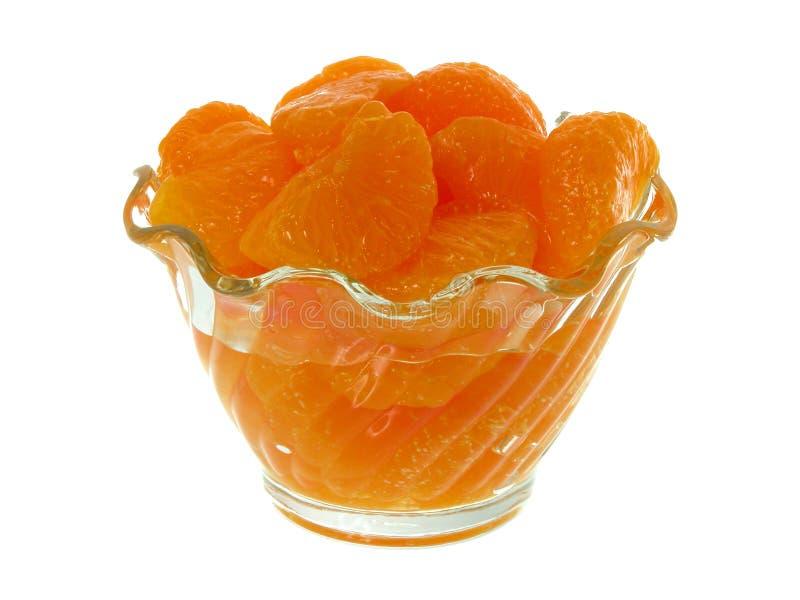Segments de mandarine images stock