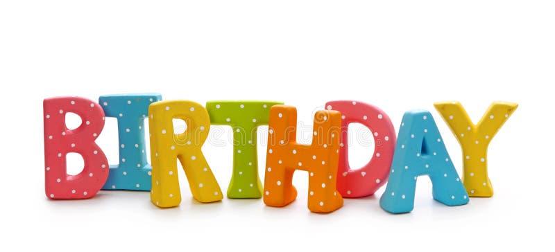 Segna il compleanno con lettere fotografia stock libera da diritti