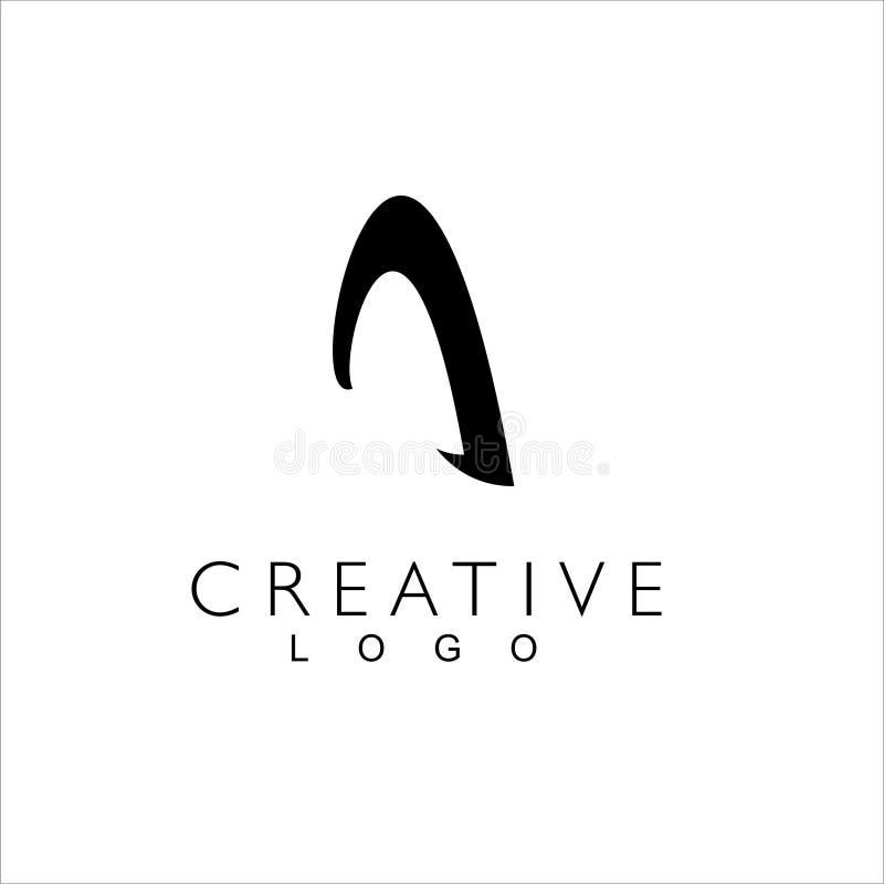 Segna il logo con lettere creativo per la societ? illustrazione vettoriale