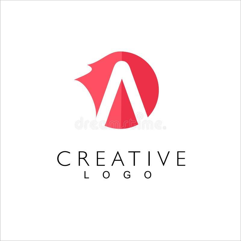 Segna il logo con lettere creativo per la societ? royalty illustrazione gratis