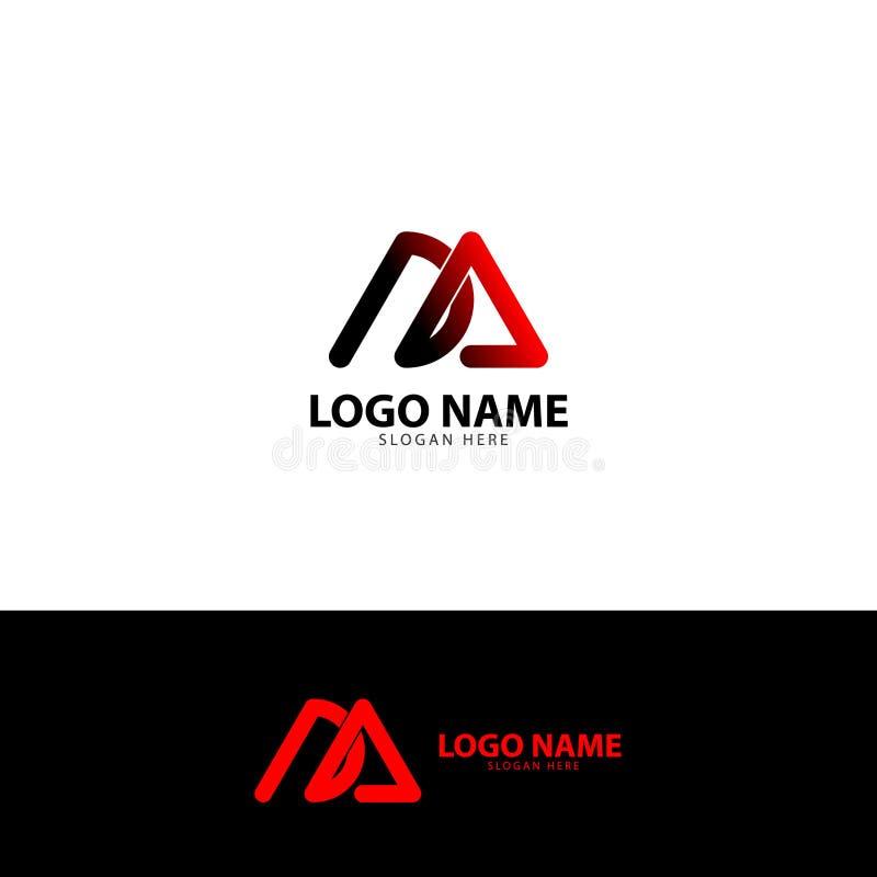 Segna l'elemento con lettere di vettore dell'icona di logo del giunto di D A illustrazione vettoriale