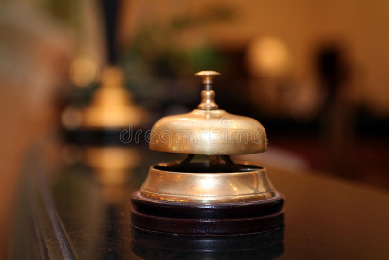 Segnalatore acustico dell'hotel fotografie stock libere da diritti