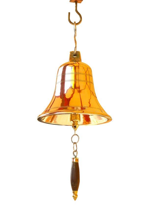 Segnalatore acustico dell'oro. fotografia stock