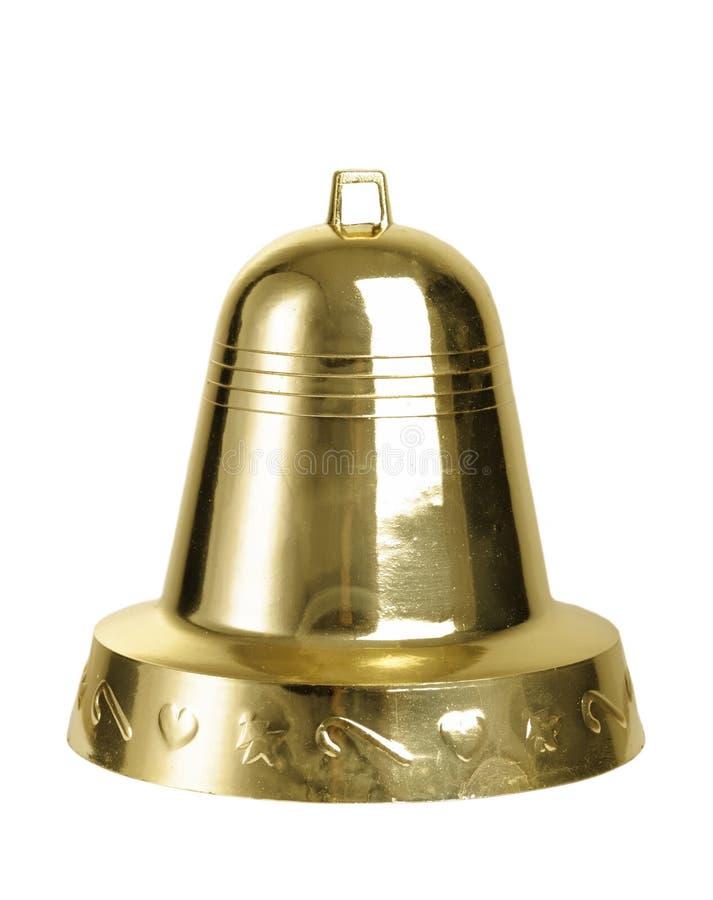 Segnalatore acustico dell'oro di natale immagini stock libere da diritti