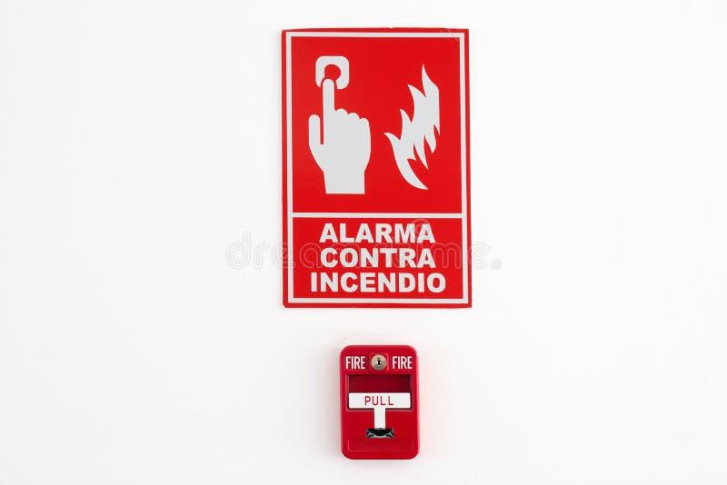 Segnalatore d'incendio di incendio immagini stock