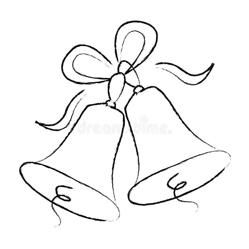 Segnalatori acustici di cerimonia nuziale illustrazione vettoriale