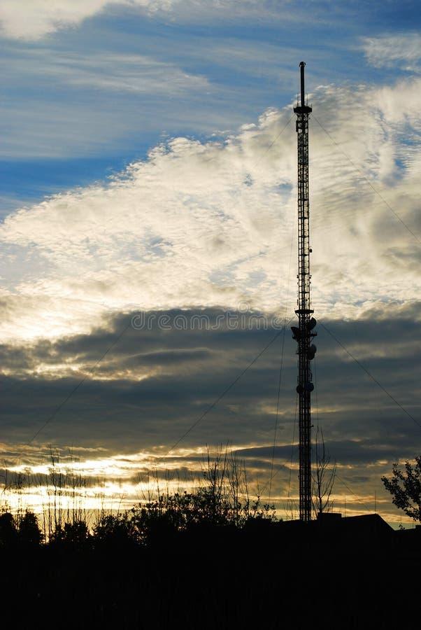 Segnale del dvb-t di radiodiffusione dell'antenna fotografie stock