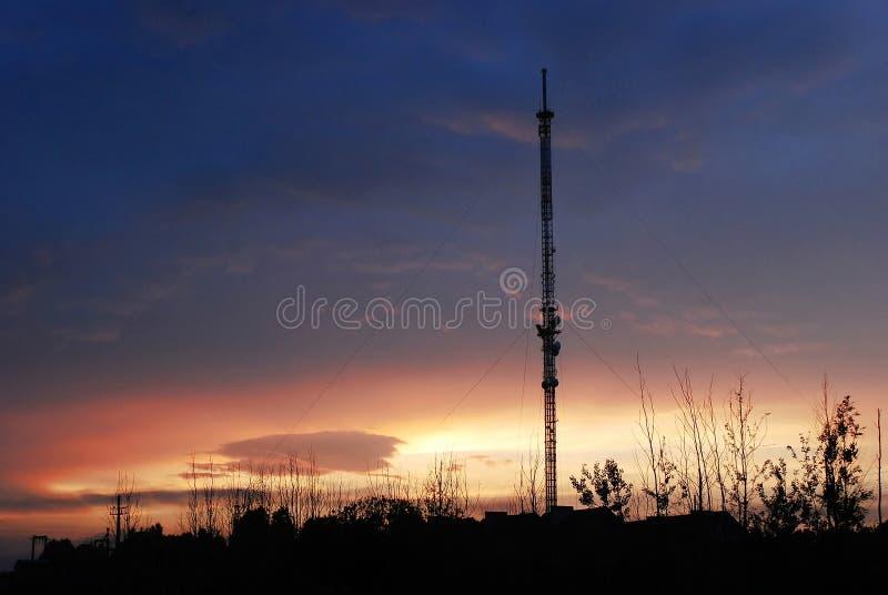 Segnale del dvb-t di radiodiffusione dell'antenna fotografia stock libera da diritti