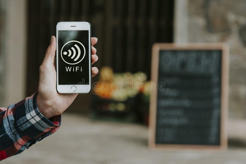 Segnale del telefono cellulare di Wifi fotografia stock