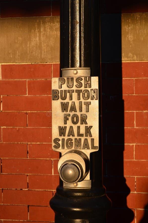 Segnale della camminata fotografia stock