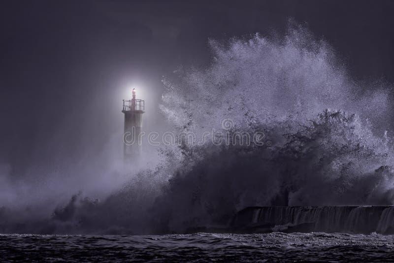 Segnale della foce alla notte fotografia stock