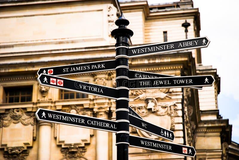 Segnale dentro Londra Regno Unito fotografia stock
